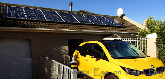 Our first set of photovoltaic panels in January