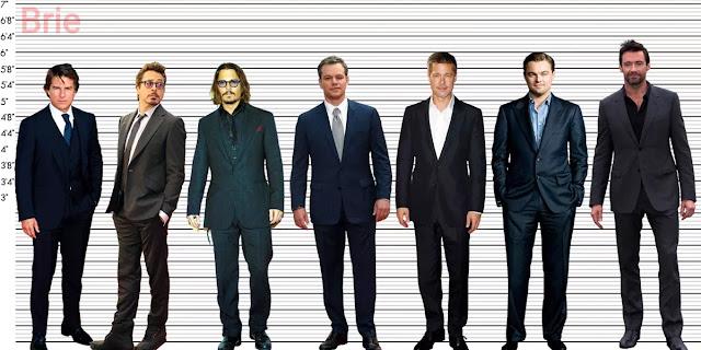 Tom Cruise, Robert Downey Jr., Johnny Depp, Matt Damon, Brad Pitt, Leonardo DiCaprio and Hugh Jackman