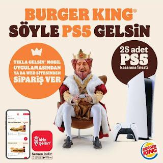 burger king menü fiyat kampanya paket servis sipariş 2021 ps5 çekilişi