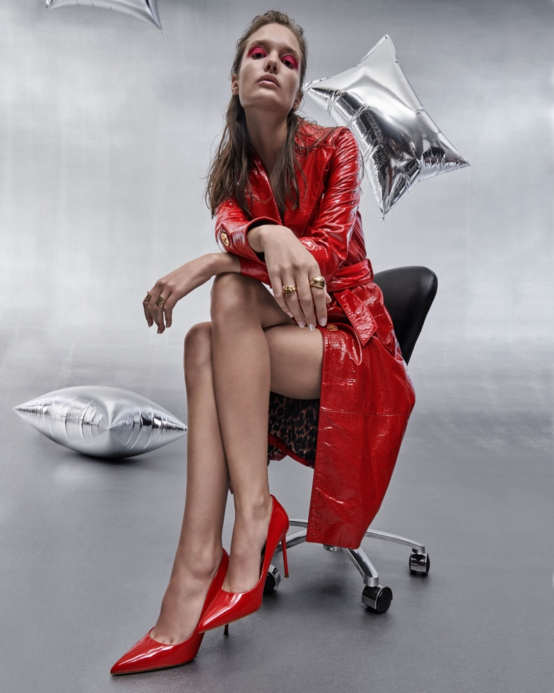 Kinga Trojan stars in Steve Madden Holiday 2019 campaign