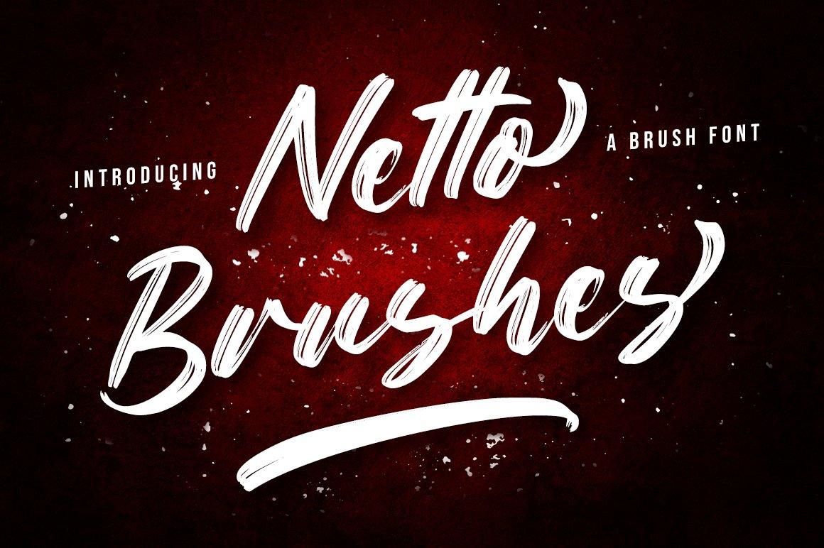 Netto Brushes Font - Free Script Brush Typeface