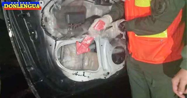 Funcionarios del comando Anti-Drogas de la PNB capturados con 13 panelas de cocaína