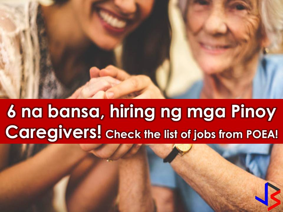 Canada, Israel, Saudi Arabia, Jordan, Singapore, and Taiwan are looking for Filipino caregiver and caretakers! If you are interested, scroll down to see the complete list below. Information on recruitment agencies are included where you can establish contact for your application   DISCLAIMER: Job listing below is from the website of Philippine Overseas Employment Administration (POEA). Please be reminded that we are not a recruitment industry and we are not affiliated to any of the agencies mentioned here below. All the job orders were taken from the POEA jobs order website and were only linked to agency details for easier navigation for the visitors. Any transaction or application you made is at your own risk and account.