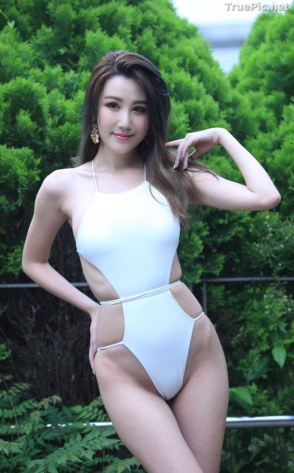Image Taiwanese Beautiful Model - Suki - White Sexy Bikini Girl - TruePic.net - Picture-2
