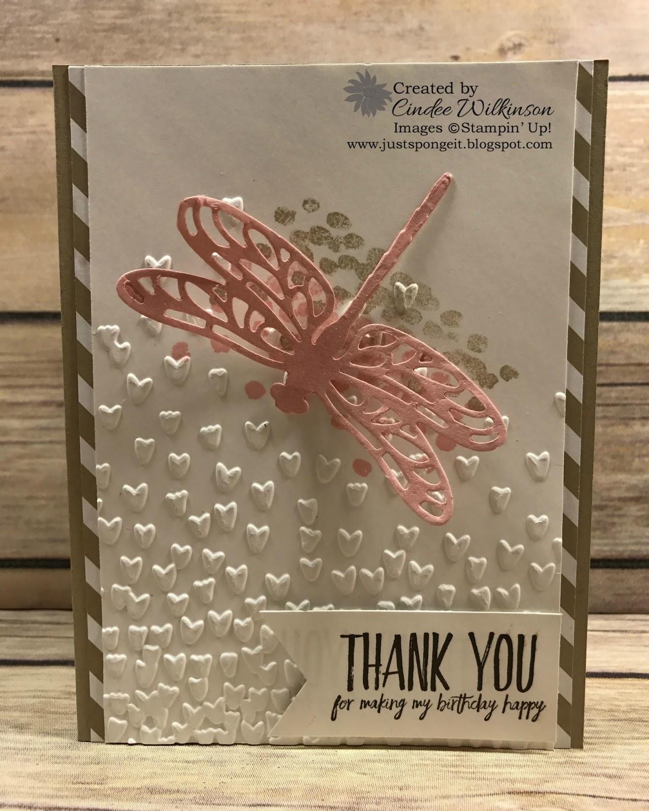 Dragonfly Dreams Bundle Thank you Cards – Just Sponge It!