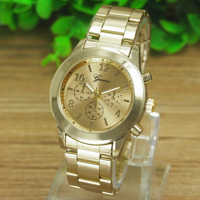 złoty zegarek z Aliexpress zdjęcie z aukcji