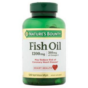 Nature's Bounty Fish Oil, dầu cá hàm lượng Omega 3 của Mỹ, 1200mg 120 viên
