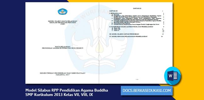 Model Silabus RPP Pendidikan Agama Buddha dan Budi Pekerti SMP Kurikulum 2013 Kelas VII, VIII, IX