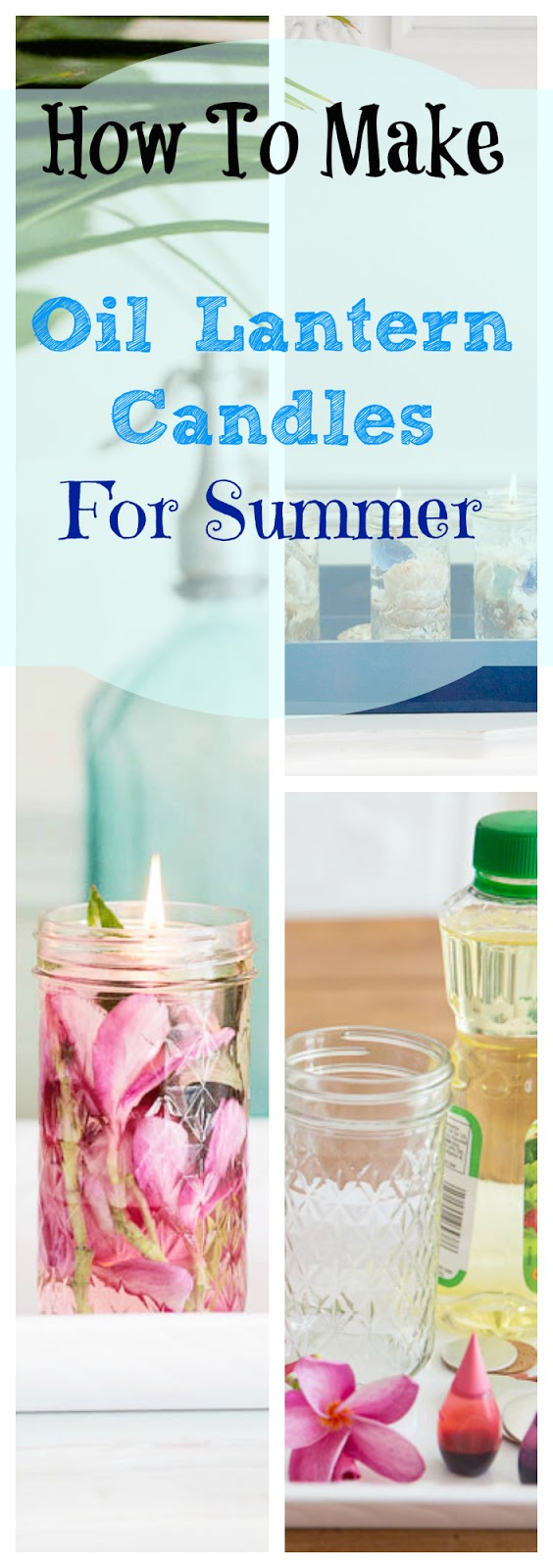 oil lantern candle diy summer