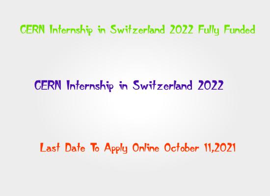 cern-internship-switzerland-2022-fully-funded