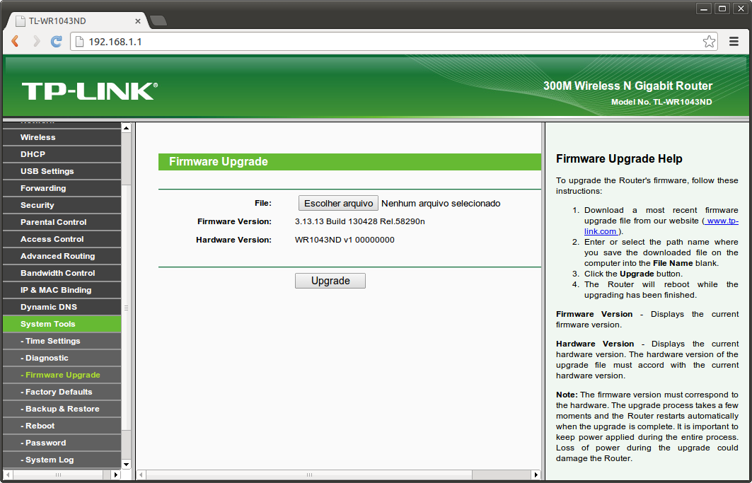 site de firmware que desbloqueia roteador
