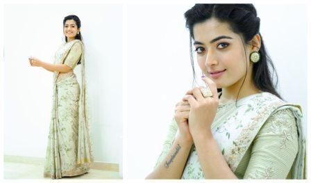Rashmika in Saree Latest HD photos | Rashmika saree images