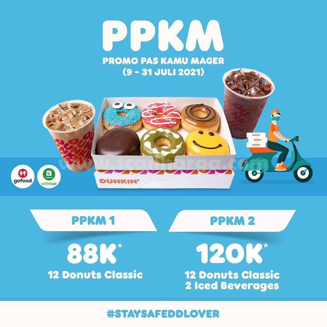 Dunkin Donuts Promo PPKM (Beli 12 Donat Cuma Rp. 88.000)