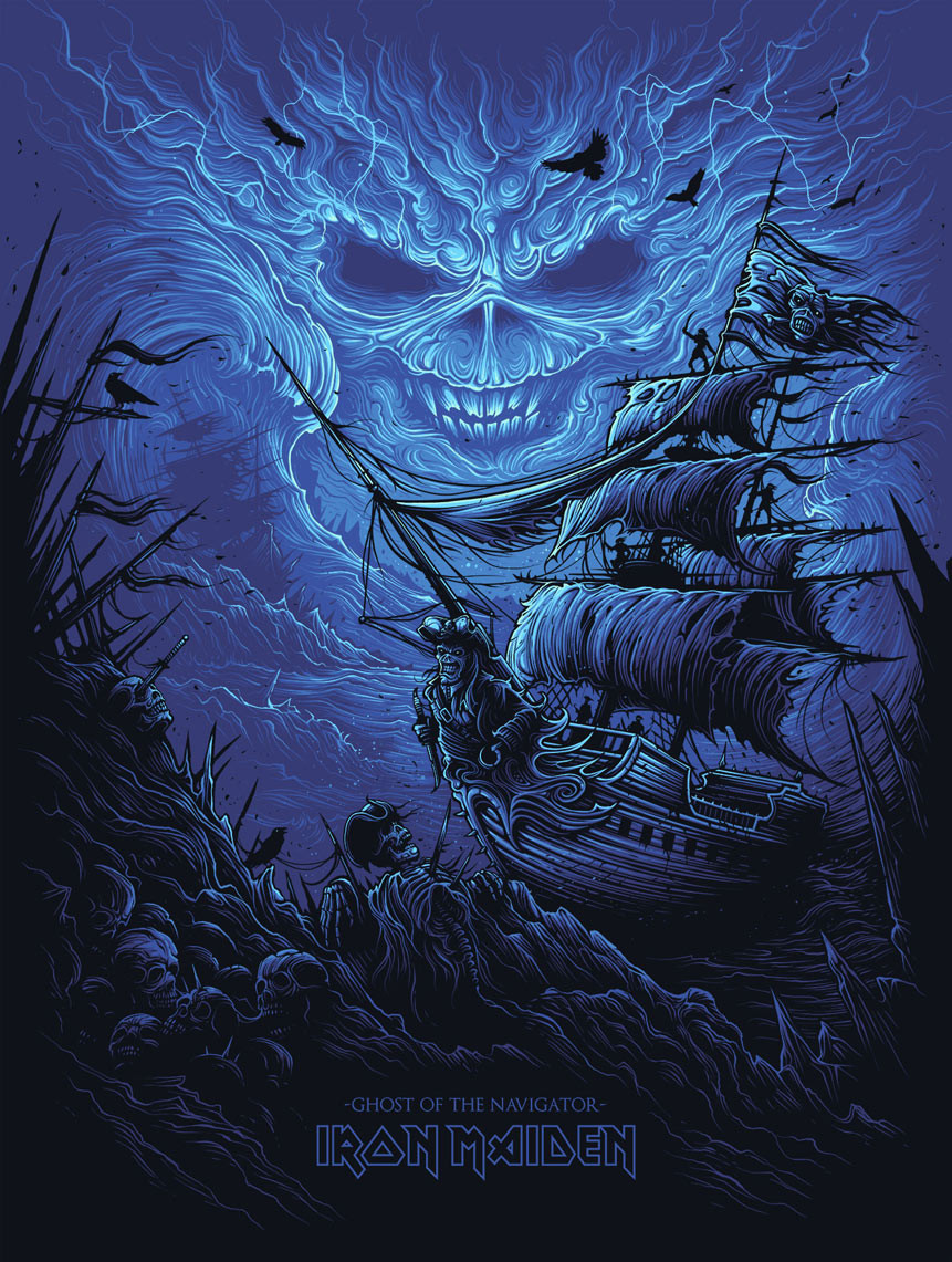 INSIDE THE ROCK POSTER FRAME BLOG: Dan Mumford Iron Maiden ...
