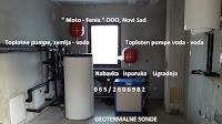 Toplotna pumpa, zemlja - voda, geotermalna sonda