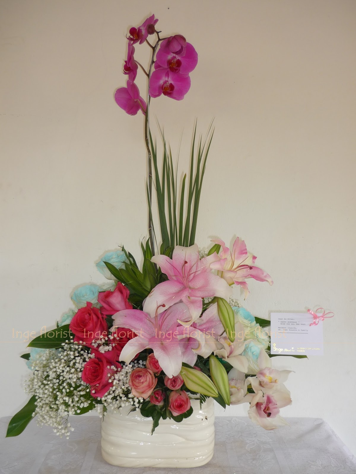 Bunga Meja Toko Cikarang Jual Karangan Rangkaian Impor Flower Sangat Tergantung Dari Kombinasi Yang Dipakai Apakah Menggunakan Segar Maupun Lokal