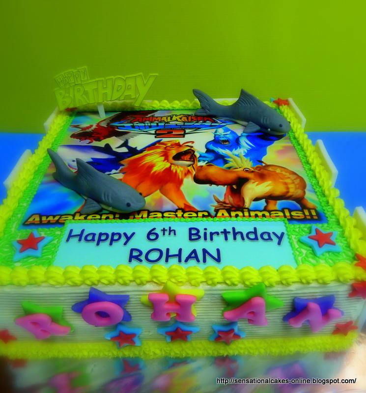 Cakes2share Singapore Animal Kaiser 2d Cake Singapore 3d Shark