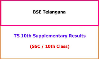 TS 10th Class Supplementary Exam Results 2021