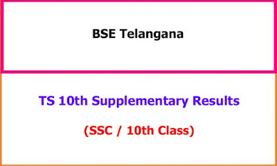 TS 10th Class Supplementary Exam Results