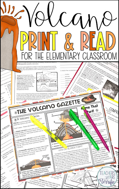 Volcano Reading Passages! This reading passages set is perfect for quiet time, sub days, assessments, and centers.