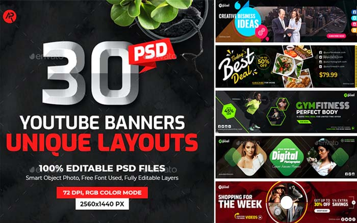 YouTube Multipurpose Cover Banners
