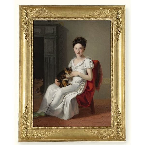 Portrait d'une Jeune Fille Portant Son Chat, Jeanne-Elisabeth Chaudet