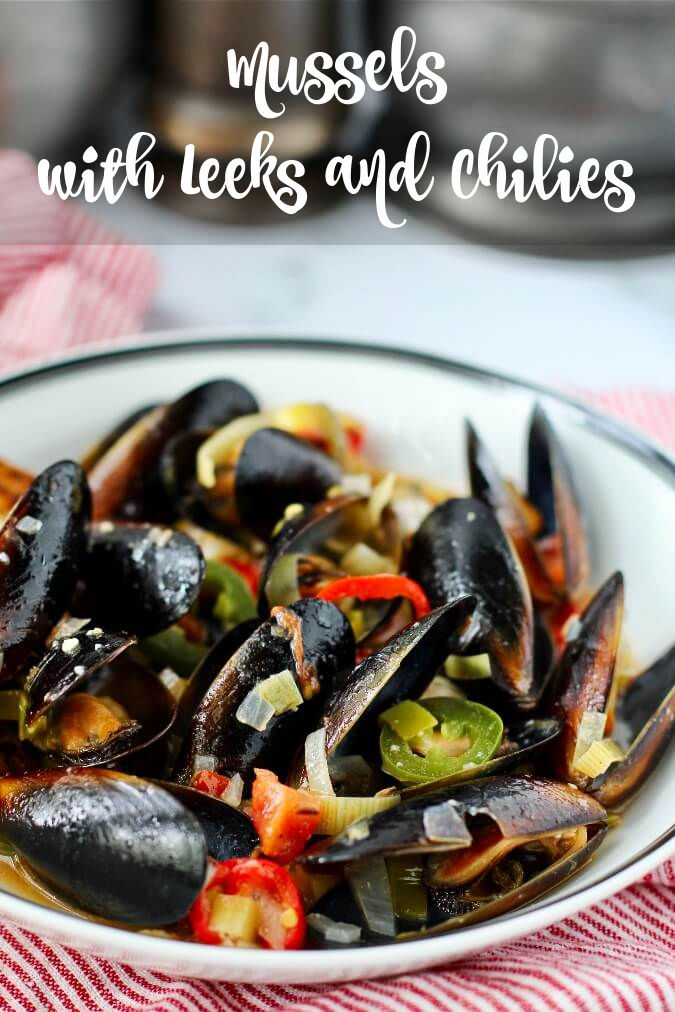 Mussels with Leeks, Garlic and Chilies