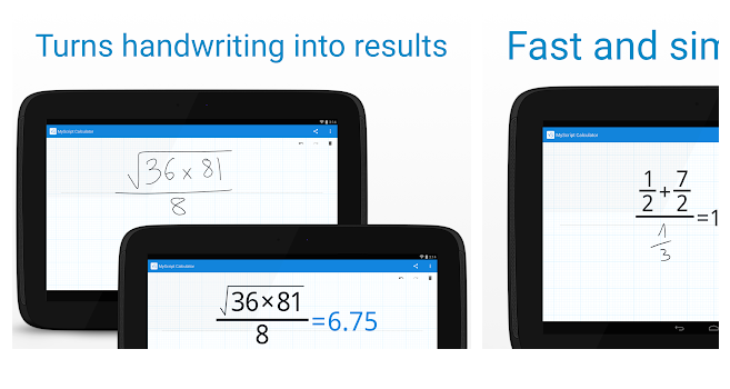Download myscript calculator (free) for android.