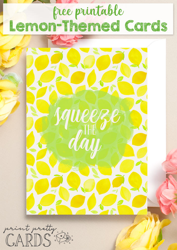 Free Lemon Printable Greeting Cards