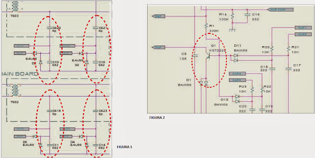 esquemas electricos de protección de la fuente de  algunos monitores LCD Samsung