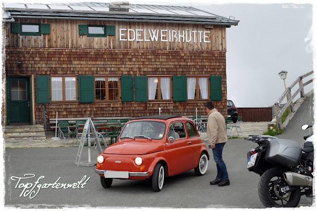 Parkplatz Edelweißhütte | Fiat 500 | Oldtimer | Großglockner - Blog Topfgartenwelt