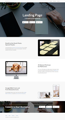 Landing Page Single Page Bootstrap Free Template