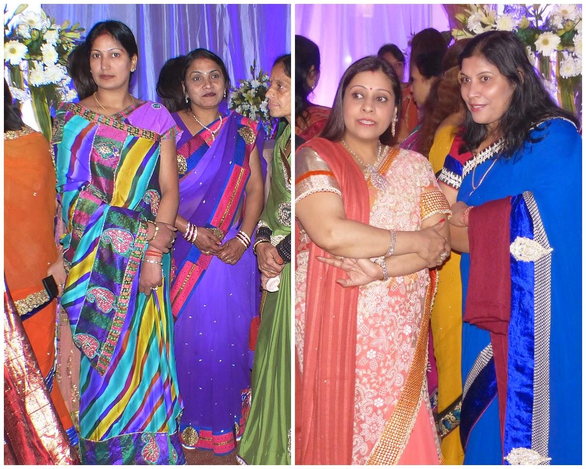 Women in bright saris