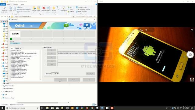 flasheando stock rom del Samsung Galaxy core prime lte