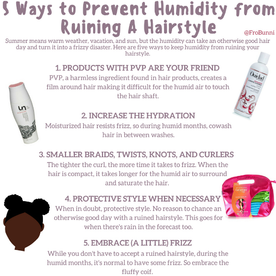 5 Ways to Prevent Humidity from Ruining Your Hairstyle infographic