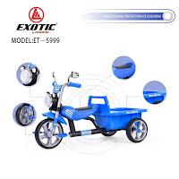 Sepeda Roda Tiga Anak Exotic ET5999 baby tricycle