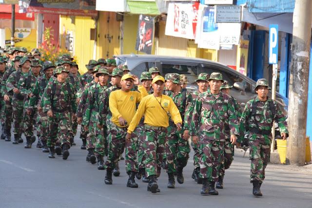 Personel Makorem dan Balakrem 141/Tp Laksanakan Hanmars