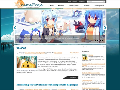 AnimePress Wordpress Themes