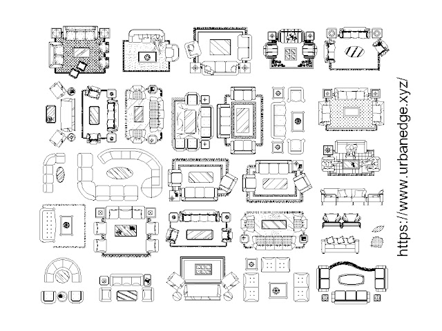 Living room furniture cad block, 25+ Living room cad blocks download