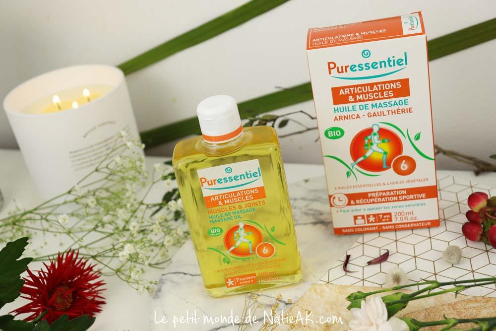 huile de massage arnica & Gaulthérie Puressentiel