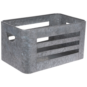 Photo of galvanized metal container