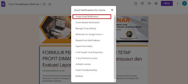 Cara Membuat Email Balasan Otomatis di Google Form
