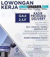 Bursa Kerja di Laundry Classy Surabaya Januari 2020
