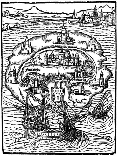 Ксилографія з «Утопії» Томаса Мора (1516)