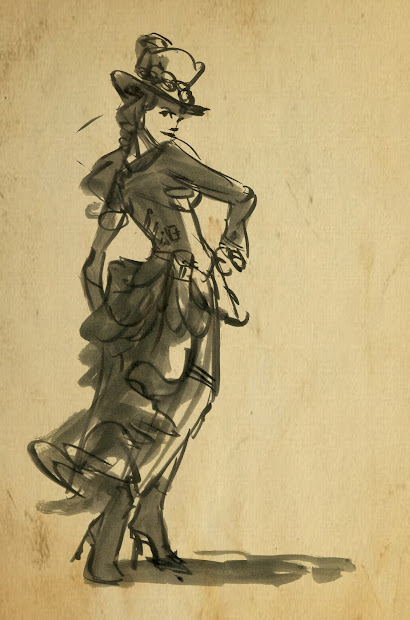 Steampunk Drawing Sketches