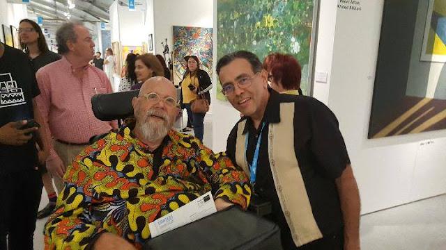 Chuck Close and Lenny Campello at Context Art Miami 2017