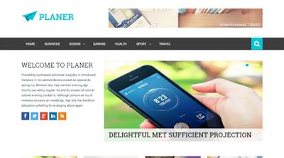 Planer Free Responsive Blogger Template - sebarkantips