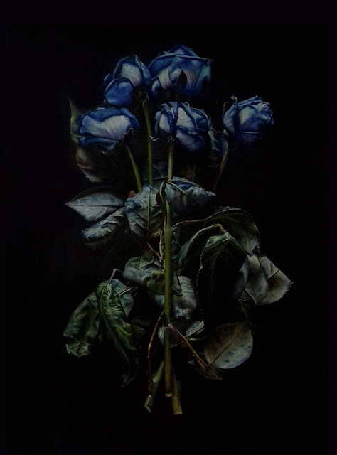 Blue Rose by Jessica Rosemary Shepherd botanical art