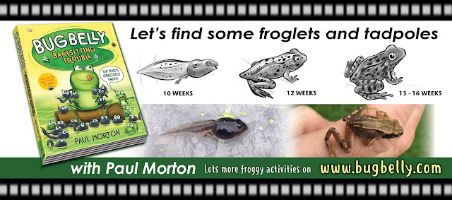 the Youtube video title showing froglets and tadpoles