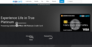LVB SBI Platinum Credit Card,  How to Apply SBI Credit Card Online